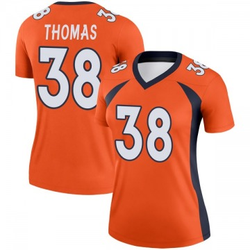 Women's Nike Denver Broncos Shamarko Thomas Orange Jersey - Legend