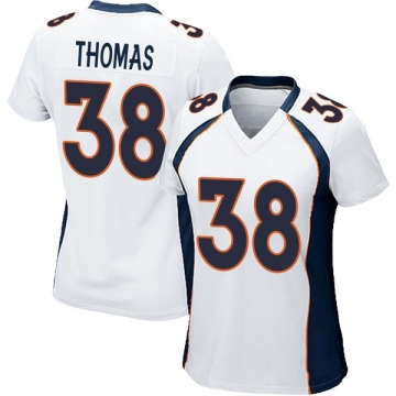 Women's Nike Denver Broncos Shamarko Thomas White Jersey - Game