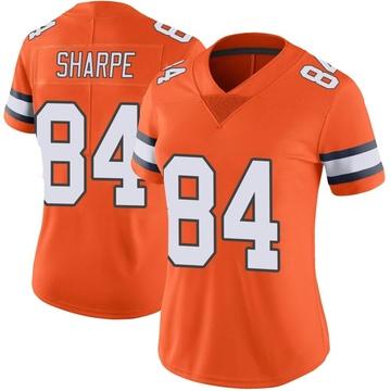 Women's Nike Denver Broncos Shannon Sharpe Orange Color Rush Vapor Untouchable Jersey - Limited