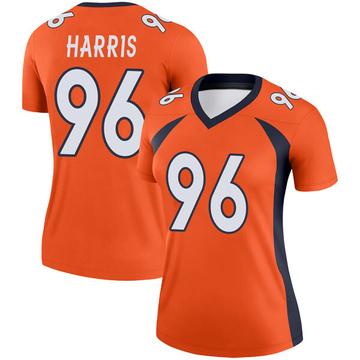 Women's Nike Denver Broncos Shelby Harris Orange Jersey - Legend