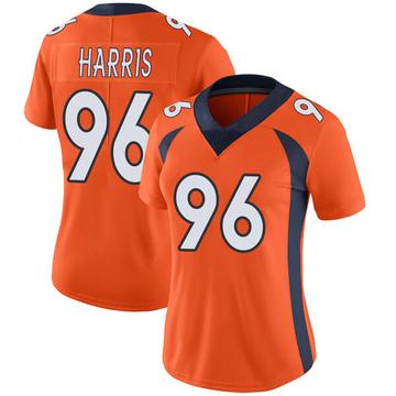 Women's Nike Denver Broncos Shelby Harris Orange Team Color Vapor Untouchable Jersey - Limited