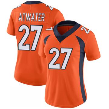 Women's Nike Denver Broncos Steve Atwater Orange 100th Vapor Jersey - Limited