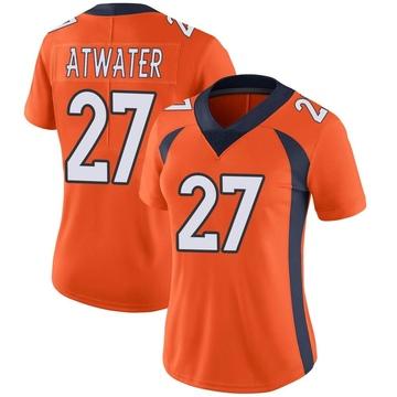 Women's Nike Denver Broncos Steve Atwater Orange Team Color Vapor Untouchable Jersey - Limited