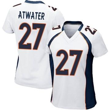 Women's Nike Denver Broncos Steve Atwater White Jersey - Game