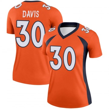 Women's Nike Denver Broncos Terrell Davis Orange Jersey - Legend