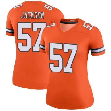 Women's Nike Denver Broncos Tom Jackson Orange Color Rush Jersey - Legend