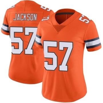 Women's Nike Denver Broncos Tom Jackson Orange Color Rush Vapor Untouchable Jersey - Limited