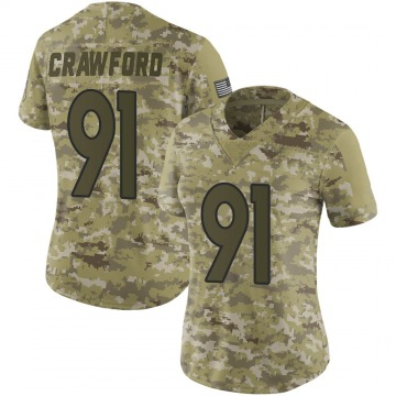 Women's Nike Denver Broncos Tre' Crawford Camo 2018 Salute to Service Jersey - Limited