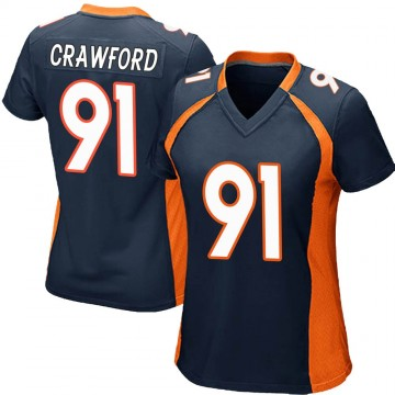 Women's Nike Denver Broncos Tre' Crawford Navy Blue Alternate Jersey - Game