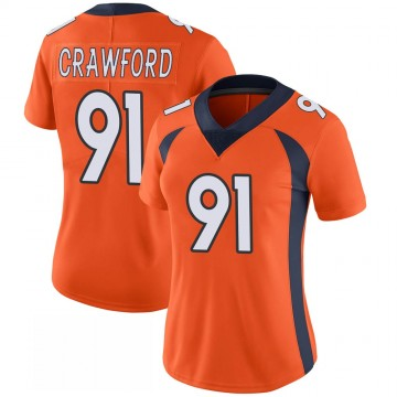 Women's Nike Denver Broncos Tre' Crawford Orange 100th Vapor Jersey - Limited