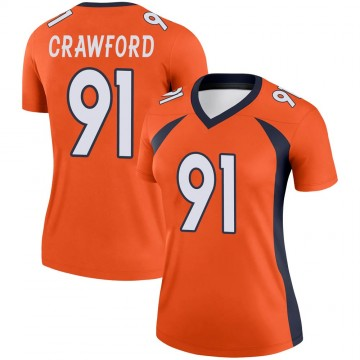 Women's Nike Denver Broncos Tre' Crawford Orange Jersey - Legend