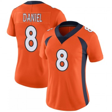 Women's Nike Denver Broncos Trevor Daniel Orange 100th Vapor Jersey - Limited