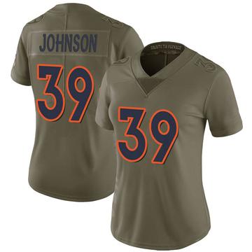 Women's Nike Denver Broncos Trey Johnson Green 2017 Salute to Service Jersey - Limited
