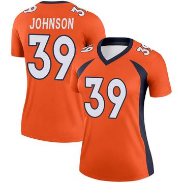 Women's Nike Denver Broncos Trey Johnson Orange Jersey - Legend