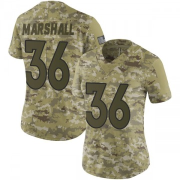 Women's Nike Denver Broncos Trey Marshall Camo 2018 Salute to Service Jersey - Limited