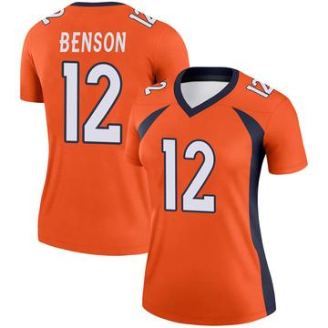 Women's Nike Denver Broncos Trinity Benson Orange Jersey - Legend