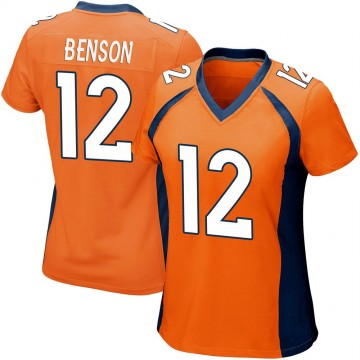 Women's Nike Denver Broncos Trinity Benson Orange Team Color Jersey - Game