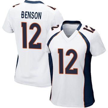 Women's Nike Denver Broncos Trinity Benson White Jersey - Game