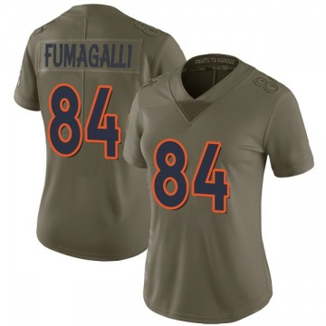 Women's Nike Denver Broncos Troy Fumagalli Green 2017 Salute to Service Jersey - Limited