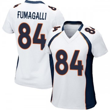 Women's Nike Denver Broncos Troy Fumagalli White Jersey - Game