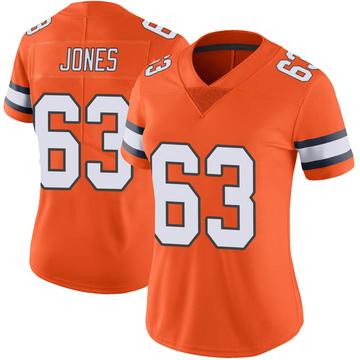 Women's Nike Denver Broncos Tyler Jones Orange Color Rush Vapor Untouchable Jersey - Limited
