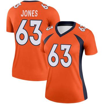 Women's Nike Denver Broncos Tyler Jones Orange Jersey - Legend