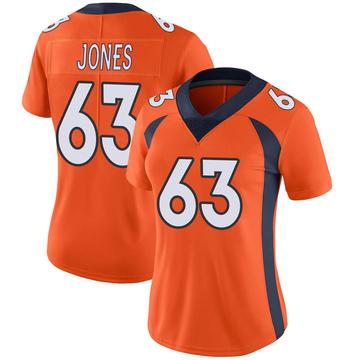 Women's Nike Denver Broncos Tyler Jones Orange Team Color Vapor Untouchable Jersey - Limited