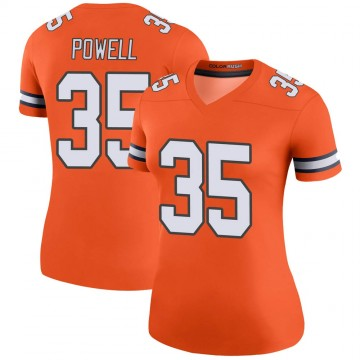 Women's Nike Denver Broncos Tyvis Powell Orange Color Rush Jersey - Legend