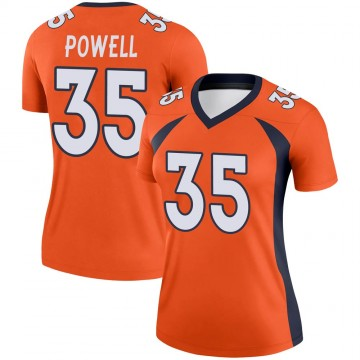 Women's Nike Denver Broncos Tyvis Powell Orange Jersey - Legend