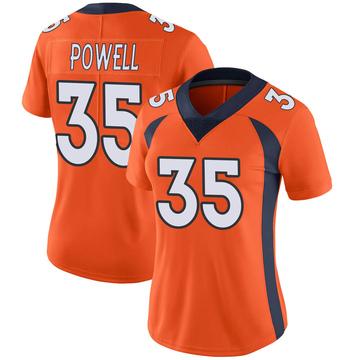 Women's Nike Denver Broncos Tyvis Powell Orange Team Color Vapor Untouchable Jersey - Limited