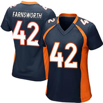 Women's Nike Denver Broncos Wes Farnsworth Navy Blue Alternate Jersey - Game
