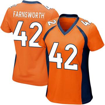 Women's Nike Denver Broncos Wes Farnsworth Orange Team Color Jersey - Game