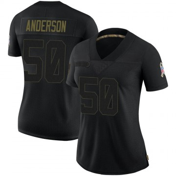 Women's Denver Broncos Zaire Anderson Black 2020 Salute To Service Jersey - Limited