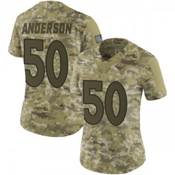 Women's Nike Denver Broncos Zaire Anderson Camo 2018 Salute to Service Jersey - Limited