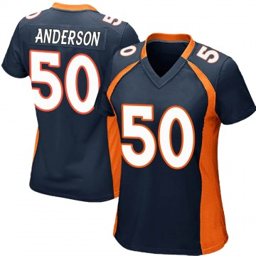 Women's Nike Denver Broncos Zaire Anderson Navy Blue Alternate Jersey - Game