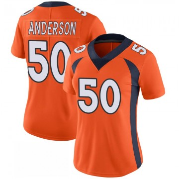 Women's Nike Denver Broncos Zaire Anderson Orange 100th Vapor Jersey - Limited