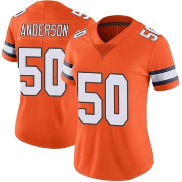 Women's Nike Denver Broncos Zaire Anderson Orange Color Rush Vapor Untouchable Jersey - Limited