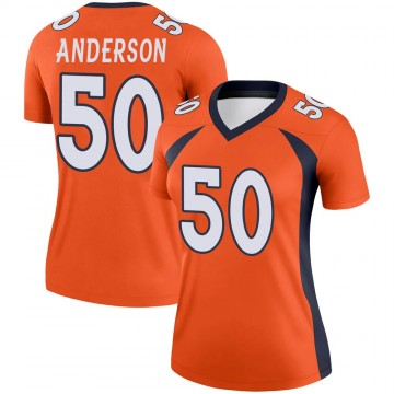 Women's Nike Denver Broncos Zaire Anderson Orange Jersey - Legend