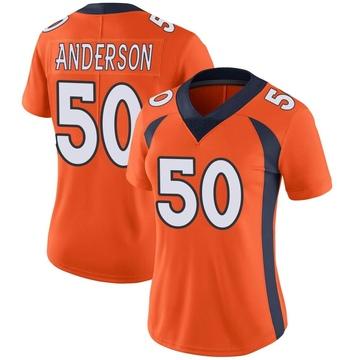 Women's Nike Denver Broncos Zaire Anderson Orange Team Color Vapor Untouchable Jersey - Limited