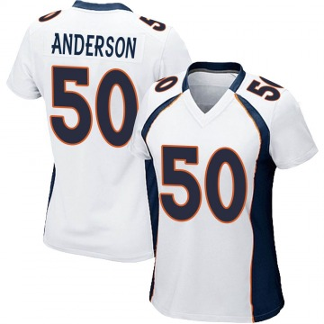 Women's Nike Denver Broncos Zaire Anderson White Jersey - Game