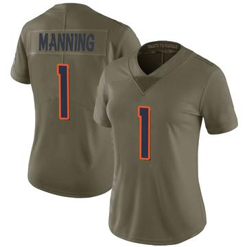 Women's Nike Denver Broncos Zimari Manning Green 2017 Salute to Service Jersey - Limited