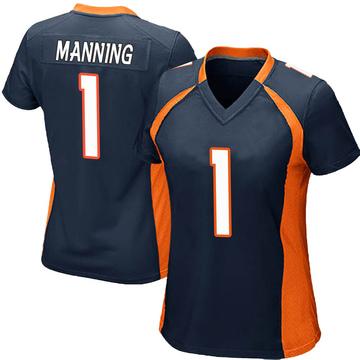 Women's Nike Denver Broncos Zimari Manning Navy Blue Alternate Jersey - Game