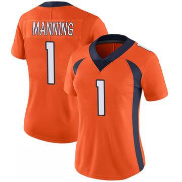 Women's Nike Denver Broncos Zimari Manning Orange 100th Vapor Jersey - Limited