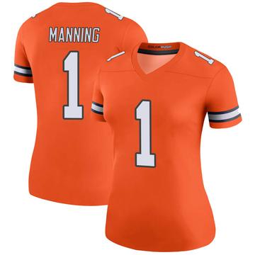 Women's Nike Denver Broncos Zimari Manning Orange Color Rush Jersey - Legend