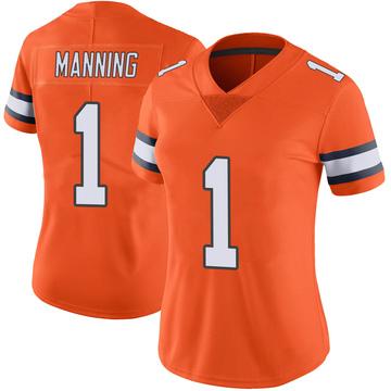Women's Nike Denver Broncos Zimari Manning Orange Color Rush Vapor Untouchable Jersey - Limited