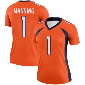 Women's Nike Denver Broncos Zimari Manning Orange Jersey - Legend