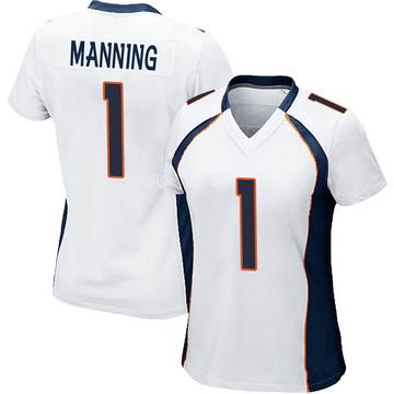 Women's Nike Denver Broncos Zimari Manning White Jersey - Game
