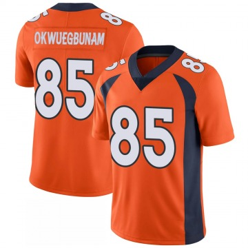 Youth Nike Denver Broncos Albert Okwuegbunam Orange 100th Vapor Jersey - Limited