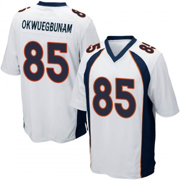 Youth Nike Denver Broncos Albert Okwuegbunam White Jersey - Game