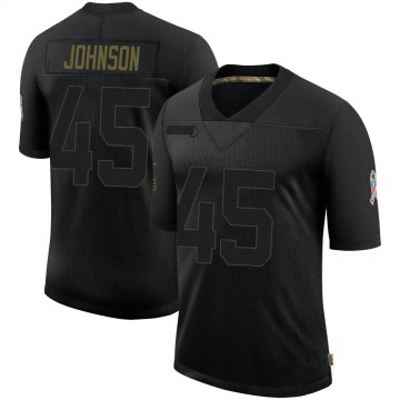 Youth Nike Denver Broncos Alexander Johnson Black 2020 Salute To Service Jersey - Limited